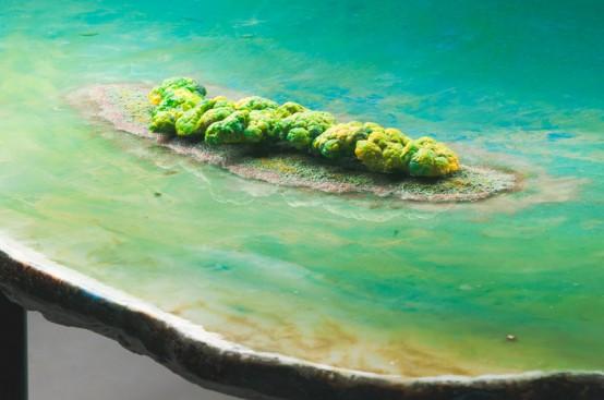 Unique Tables Imitating Different Water Bodies - DigsDi