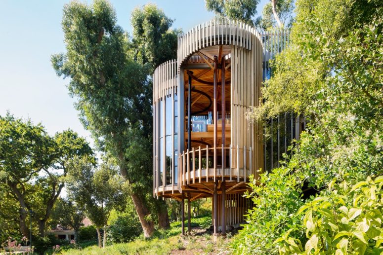 Unique Treehouse Residence Made Of Four Towers - DigsDi