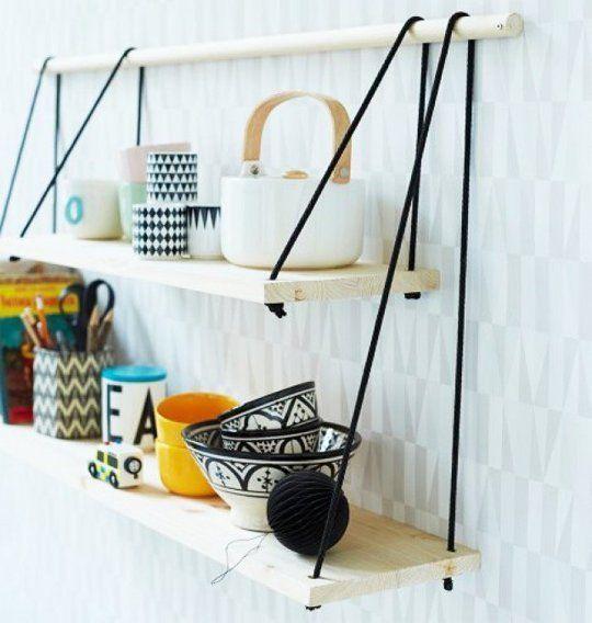 Buy or DIY: Inspiring Unconventional Shelving   Diy hanging .