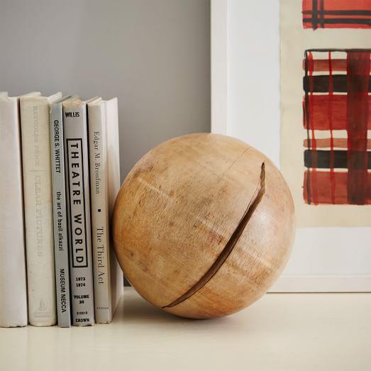 Rustic Wood Sphere, Decorative Accen