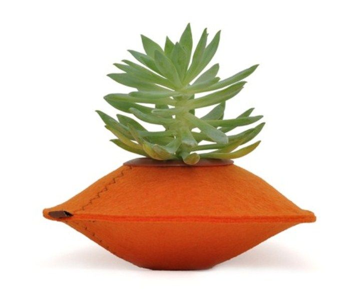 Unusual Colorful Planters Of 100% Recycled Felt   DigsDigs .