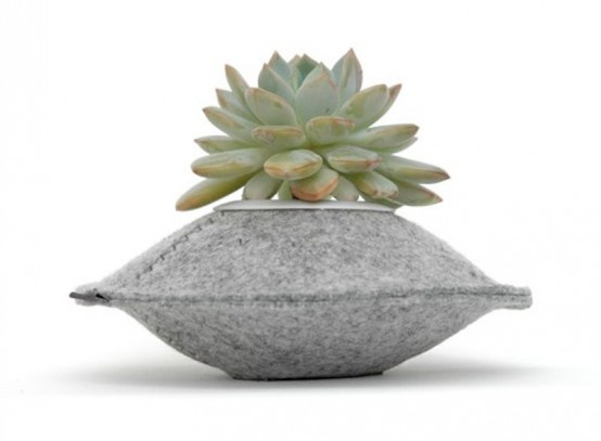Unusual Colorful Planters Of 100% Recycled Felt - DigsDi