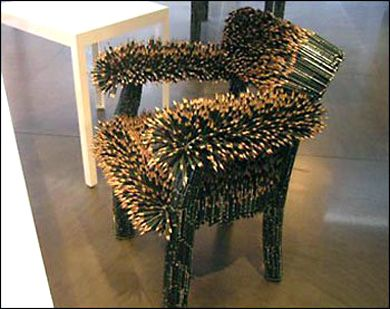 Creative Chairs from Odd Materials | Weird furniture, Funky chairs .