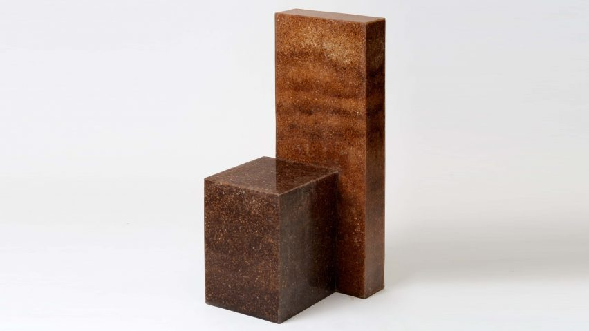 Oh Geon creates sculptural chair from resin and sawdu