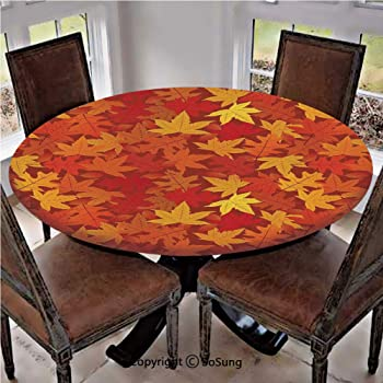 Amazon.com: Elastic Edged Polyester Fitted Table Cover,Multi .