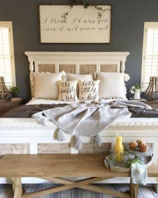 70 Urban Farmhouse Master Bedroom Ideas | Farmhouse style master .