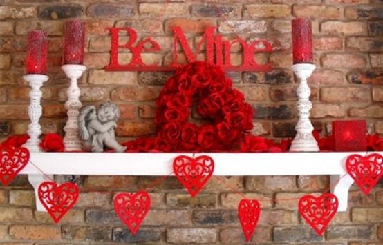 19 LOVELY VALENTINE FIREPLACE MANTEL DECORATING IDEAS .