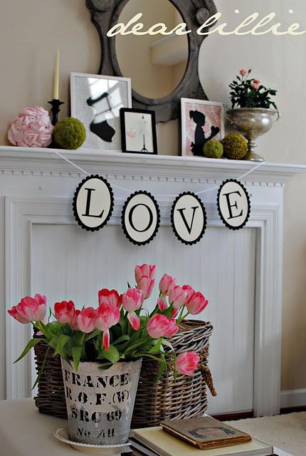 65 Valentine Mantel Decor Ide