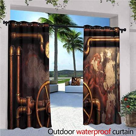 Amazon.com : Jktown Industrial Outdoor Grommet Top Curtain Panel .