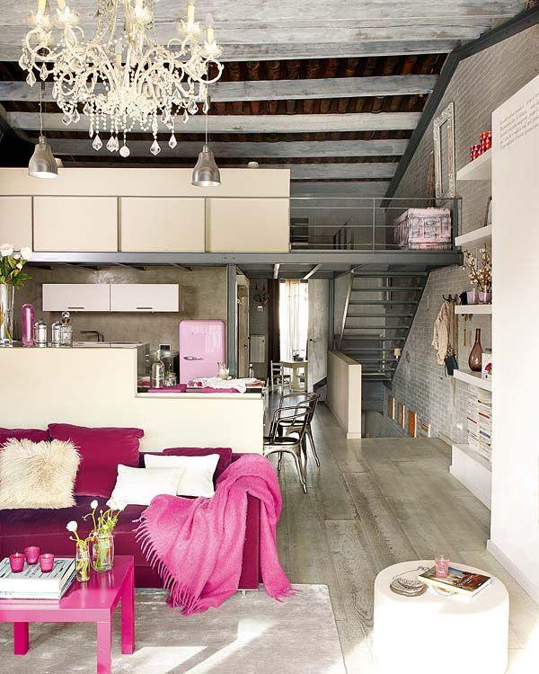 Unique vintage loft home in Barcelona   Loft living, Win a house .