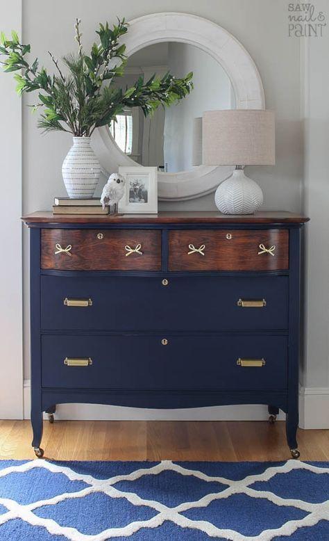 Vintage Dresser Before and After Makeover | Painted furniture .