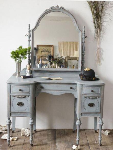 Makeup table antique vintage dressers 55+ ideas #makeup | Vintage .