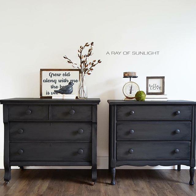 Mix matched grey nightstands from old vintage dressers that were .