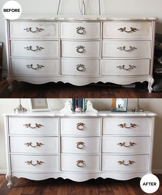 Refinished antique dresser | Vintage dressers, Diy dresser, Diy .