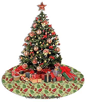 Amazon.com: Christmas Tree Skirt,Kitchen Decor,Vintage Style .