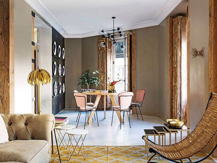 Modern apartment with vintage accents in Madrid | Beautiful .