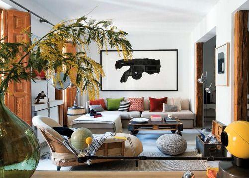 www.interieurdesigner.be Eclectische woonkamer in een Hipster .