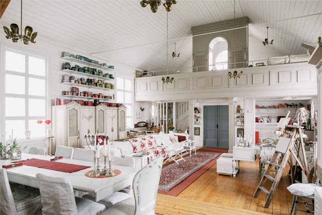 Vintage-Styled Scandinavian Home From An Old Church - DigsDi
