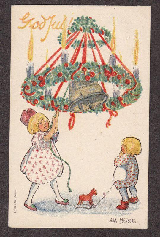 Swedish Xmas   Vintage christmas cards, Danish christmas .