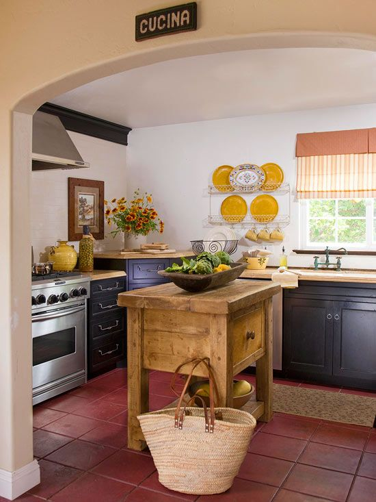 Small-Space Kitchen Island Ideas (With images)   Antique kitchen .