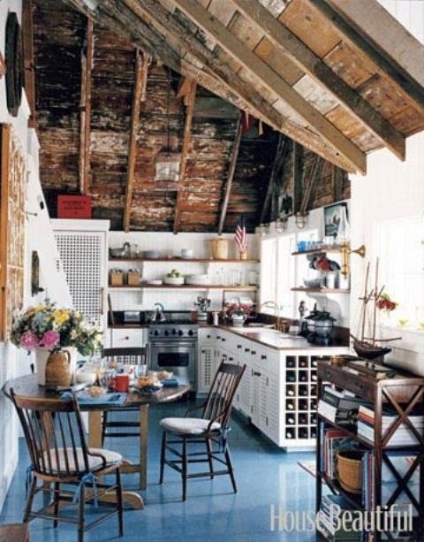 28 Vintage Wooden Kitchen Island Designs - DigsDi