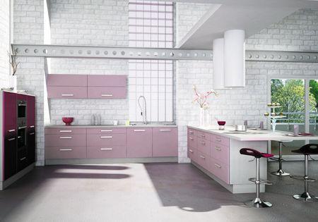 Violet Kitchen Inspiration | Contemporary kitchen design, Interior .
