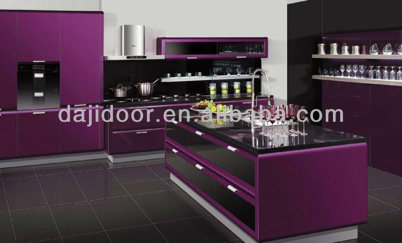 Kitchen violet and black | Purple kitchen, Kitchen inspiration .