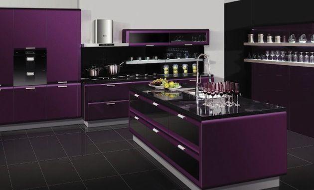 purple kitchen...OMG I love this!!! | Purple kitchen, Kitchen .