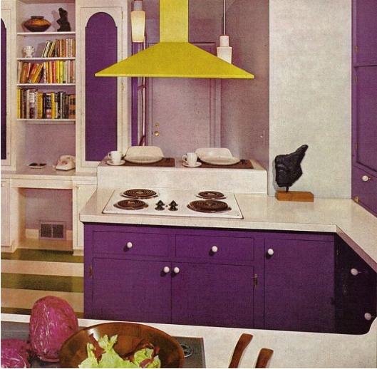 That 70s Home | Purple kitchen, Purple kitchen cabinets, Retro ro