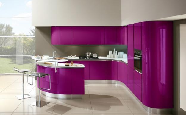 easy-on-the-eye-purple-round-kitchen-inspiration-cabinets - Moda .