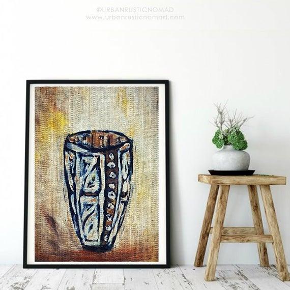 African original art African Art Vase painting digital   Et