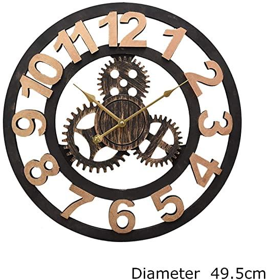 Amazon.com: EVEN Decorative Wall Clock,19 Inches Vintage Steampunk .
