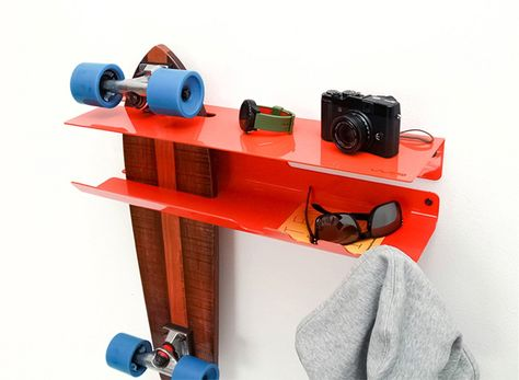 Wall ride - wall mounted skate rack | Wall mount rack, Wall racks .