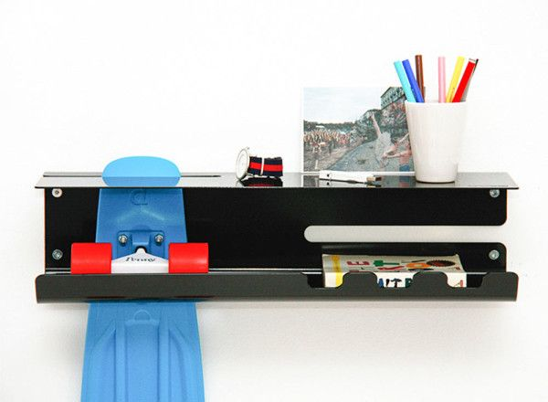 A Wall-Mounted Rack to Proudly Display Your Skateboard | Frozen .