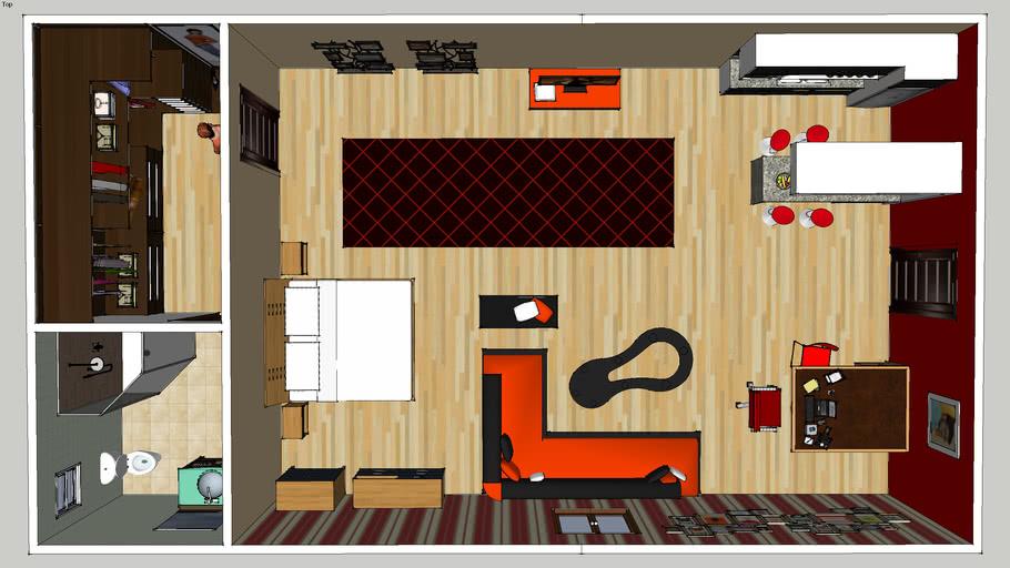 Studio apartment | 3D Warehou