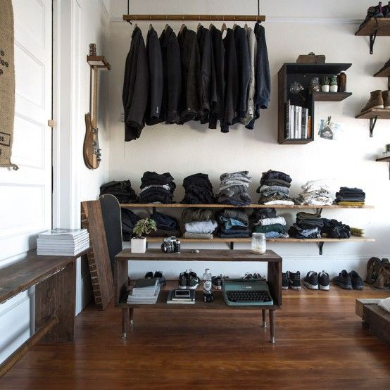 Well-Organized Masculine Bedroom Combined With A Closet | DigsDigs .