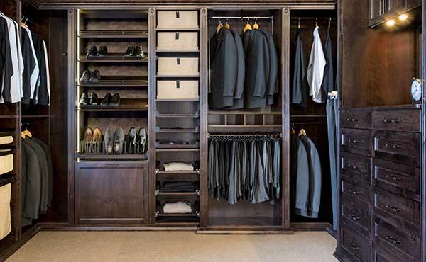 Men's Closet Organization Ide