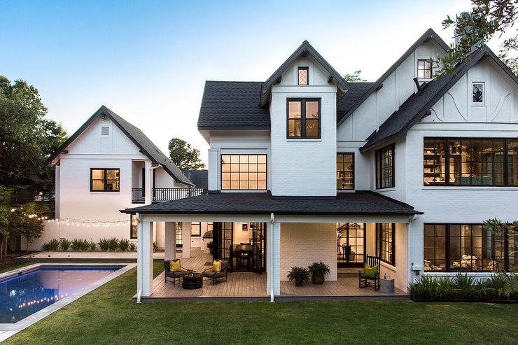 White Barn House Style Home - Transitional - Home Exteri