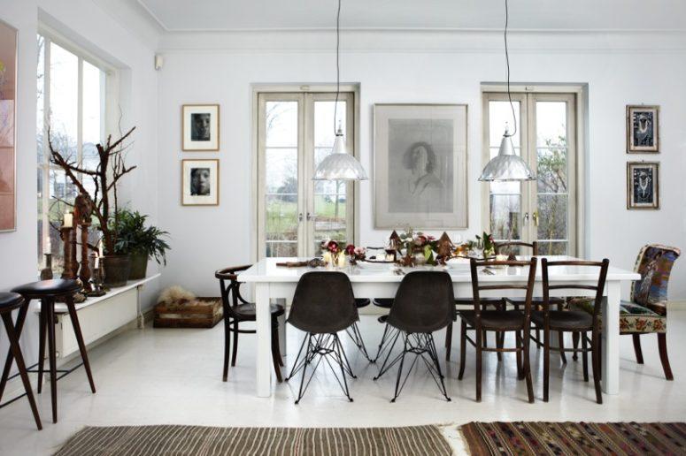 White Danish Home With Nordic Christmas Decor - DigsDi
