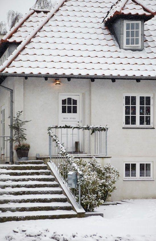 snowy home | Danish house, Winter house, Swedish hou