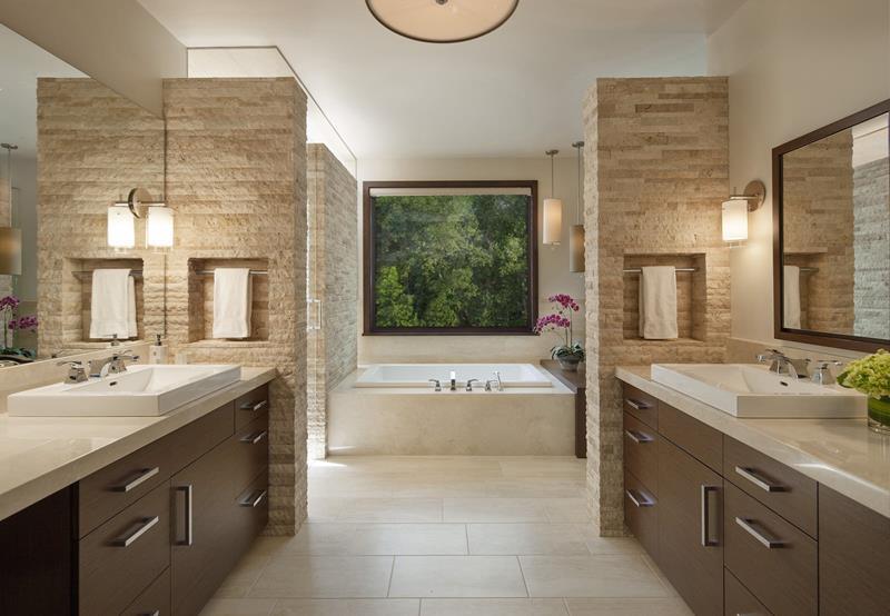 30+ Beautiful Brown Bathroom Design Ideas - Home Awakeni