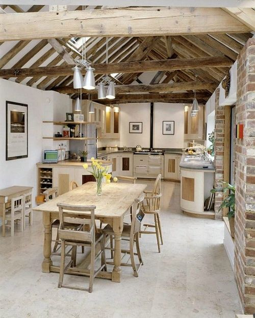 33 Wonderful Kitchens Interiors Designed In Barns | Barn .