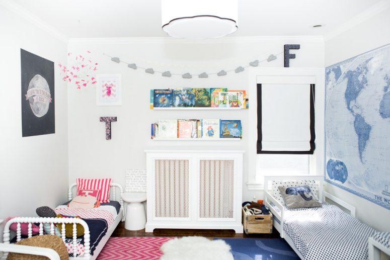 45 Wonderful Shared Kids Room Ideas - DigsDi