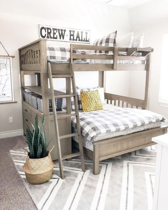 52 Wonderful Shared Kids Room Ideas For Boys and Girls | Bunk bed .
