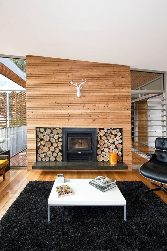 22 Wood-Clad Interior Ideas To Warm Up In The Winter - DigsDi