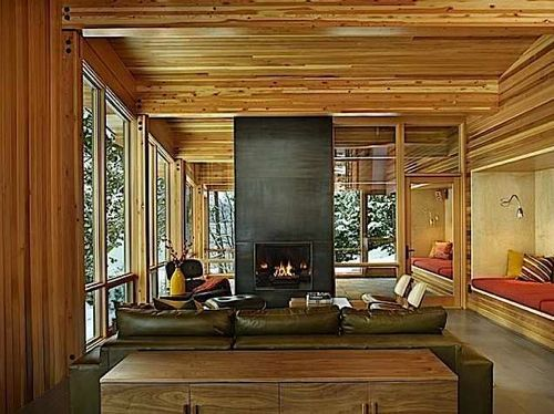 Interior Inspiration: 12 Fabulous Fireplaces | Cabin living room .
