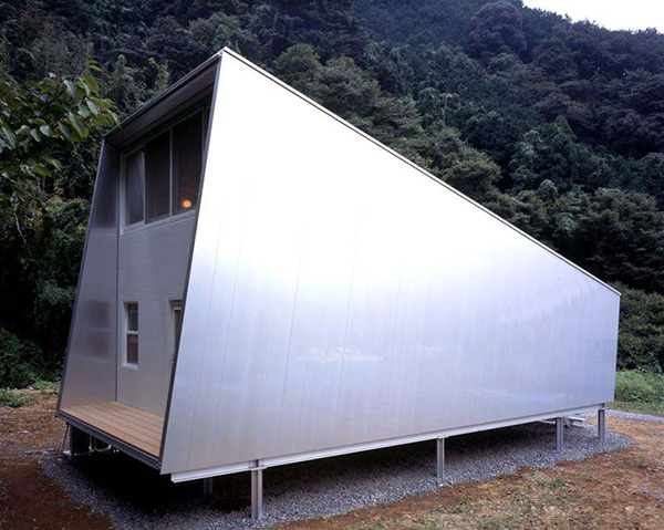 Small Home Design Ideas - metal clad house with wood interi