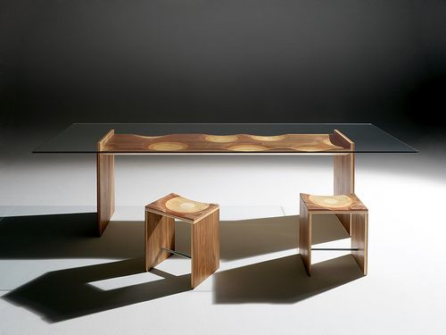Ripples Table   Glass dining table, Modern dining room tables .