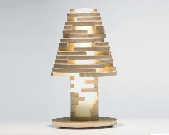 Wooden Construction Set And Lamp In One - DigsDi