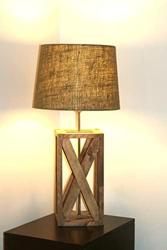 Amazon.com: Rustic Geometric Lamp, Rustic Wooden Lamp, Handmade .
